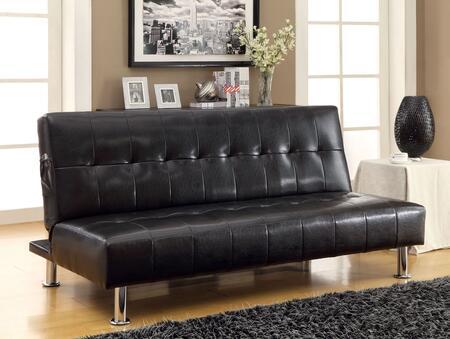 Furniture of America Bulle CM2669PBK Futon Black, Main Image