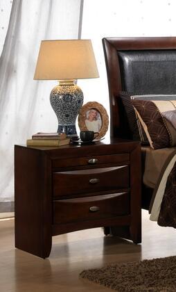 Myco Furniture Emily EM1550N Nightstand Brown, EM1550N Main Image