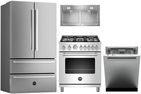 Bertazzoni 1127888 Kitchen Appliance Package & Bundle Stainless Steel, main image