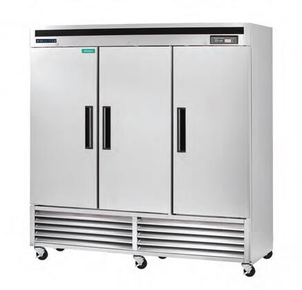 MCF-72FD 81″ Reach-In Freezer with 72 Cu. Ft. Capacity  Stainless Steel Interior  CFC-Free Polyurethane Insulation  Automatic Defrost System  and