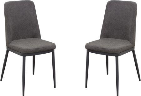 Diamond Sofa Tempo TEMPODCGR2PK Dining Room Chair Gray, Main View