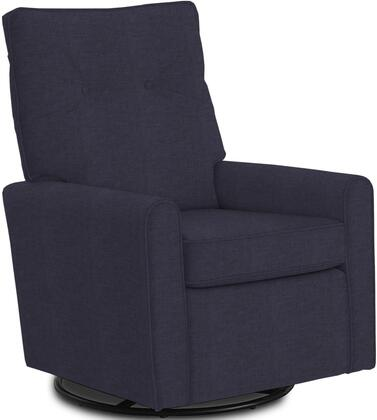 Phylicia Collection 4007-19702 Recliner with 360-Degrees Swivel Glider Metal Base  Removable Back  High Backrest  Zipper Access and Fabric Upholstery