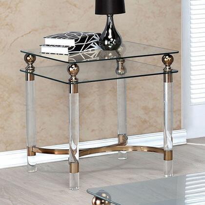 Furniture of America Castlebar CM4352E End Table Gold, Main Image