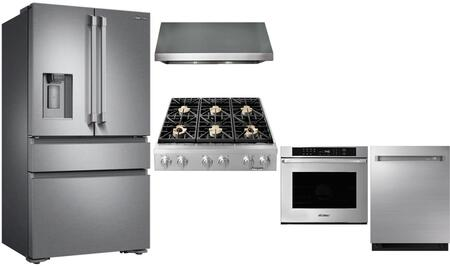 Dacor 975488 5 piece Stainless Steel Kitchen Appliances Package