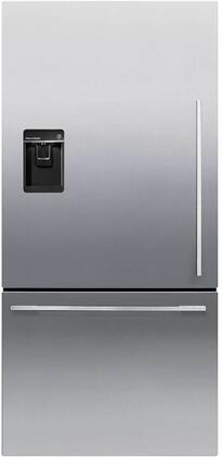 Fisher Paykel Contemporary RF170WDLUX5N Bottom Freezer Refrigerator Stainless Steel, Front View