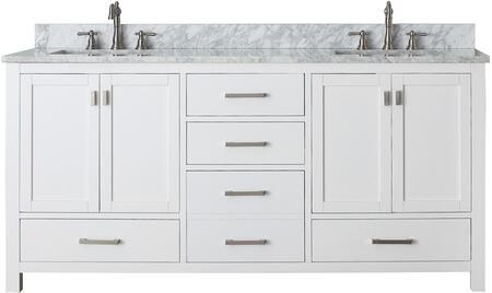 Avanity Modero MODEROV72WT Sink Vanity White, MODERO V72 WT front