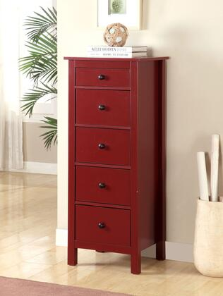 Furniture of America Launces CMAC119RD Chest of Drawer, CM AC119RD