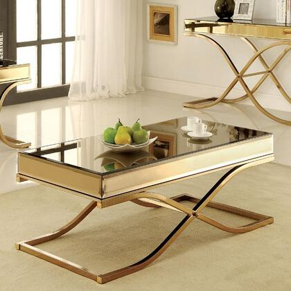 Furniture of America Sundance CM4230C Coffee and Cocktail Table Gold, Main Image