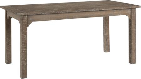 Teresa Collection D869-10 66″ Dining Table in Natural Distressed
