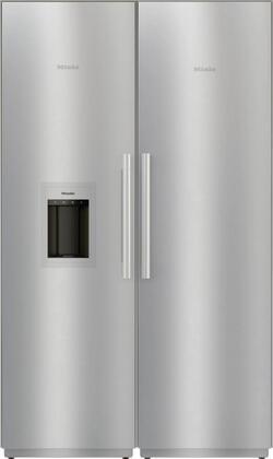 Miele  1330574 Column Refrigerator & Freezer Set Stainless Steel, 1