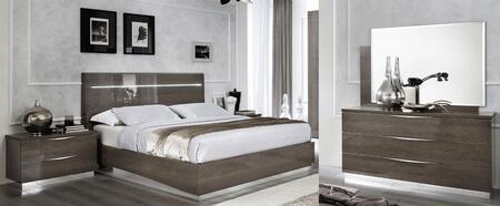 ESF Platinum PLATINUMBEDQSLEGNO2NSDRMR Bedroom Set Brown, PLATINUMBEDQSLEGNO-2NSDRMR