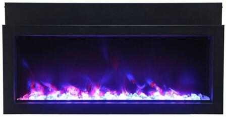 Amantii BI-50-XTRASLIM Panorama Indoor/Outdoor Extra Slim Built In Electric Fireplace, 50""