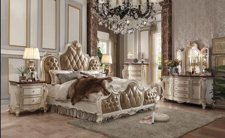 Acme Furniture Picardy 26897EKSET Bedroom Set White, 6 PC Set