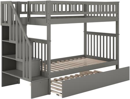 Atlantic Furniture Woodland AB56659 Bed Gray, AB56659
