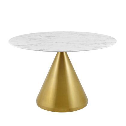 Modway Tupelo EEI5336GLDWHI Dining Room Table White, EEI 5336 GLD WHI 1
