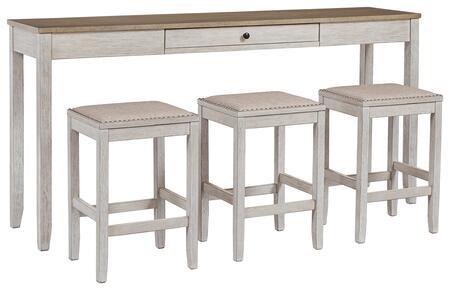 Signature Design by Ashley Skempton D394223 Bar Table Set White, Main Image