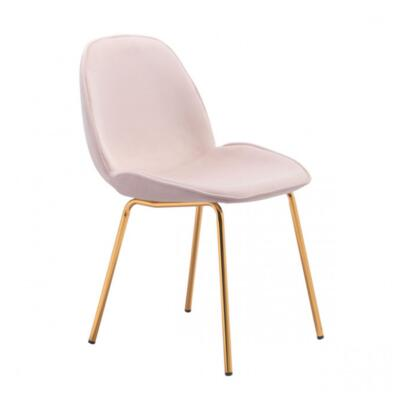 Zuo Siena 101221 Dining Room Chair Pink, 101221 Front