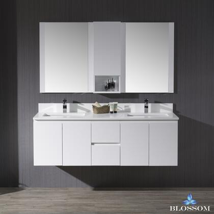 Blossom Monaco 0006001D24WH Sink Vanity White, 0006001D24WH 1