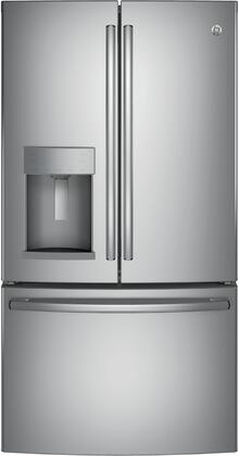 GE  GFE28GYNFS French Door Refrigerator Stainless Steel, GFE28GYNFS Front View