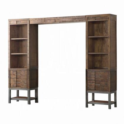 Andria Collection 91620 Entertainment Center (Side Piers & Bridge) in Reclaimed Oak