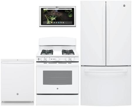 GE 1077789 Kitchen Appliance Package & Bundle White, main image