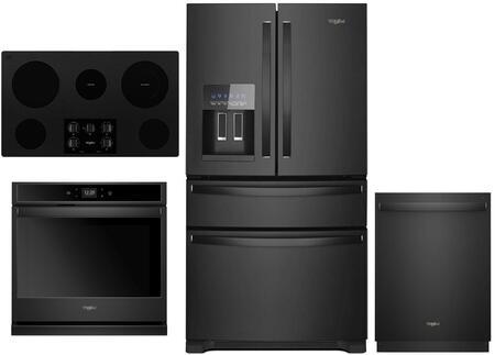 Whirlpool 1054260 Kitchen Appliance Package & Bundle Black, main image
