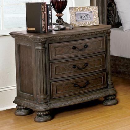 Furniture of America Persephone CM7661N Nightstand Brown, Main Image