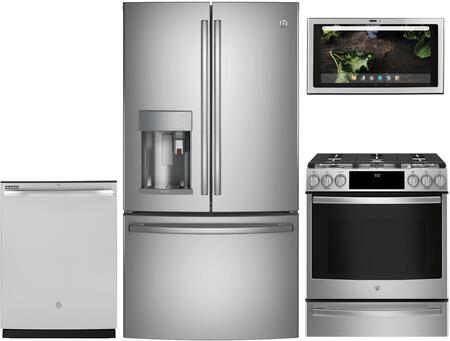 GE Profile 1077352 Kitchen Appliance Package & Bundle Stainless Steel, main image