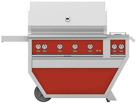 Hestan GABR42CX2NGRD Natural Gas Grill Red, Front View