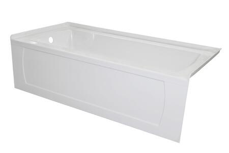 Valley Acrylic Signature Collection OVO6632SKDFLWHT Bath Tub White, Main Image