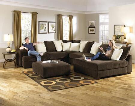 Jackson Furniture  442962 Sectional Sofa Brown, 1