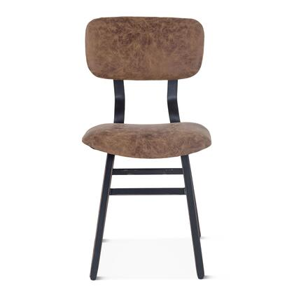 Amici Collection ZWIMDC18-2X Set of 2 Dining Chairs in Brown