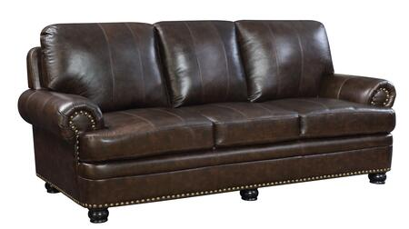 Furniture of America Reinhardt CM6318DBSF Stationary Sofa Brown, Main Image