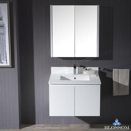 Blossom Monaco 0003001WHMC Sink Vanity White, 0003001WHMC 1