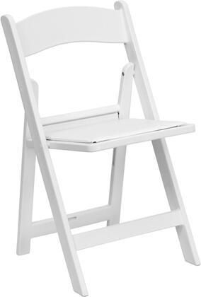 Flash Furniture  LEL1WHITEGG Folding Chair White, Main Image