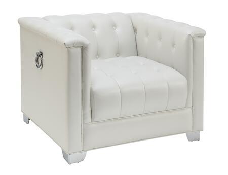 Coaster Chaviano 505393 Living Room Chair White, Main Image