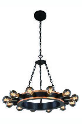 Elegant Lighting 1500D25VBGI Ceiling Light, Image 1