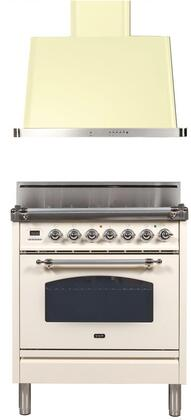 Ilve  1311410 Kitchen Appliance Package Antique White, Main Image