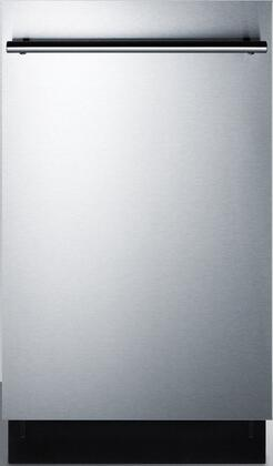 Summit DW18SS2ADA Built-In Dishwasher Stainless Steel, DW18SS2ADA Front View