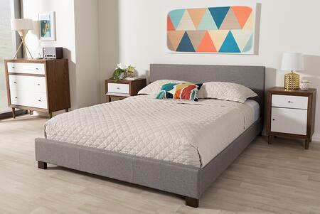 Baxton Studio Elizabeth IDB048GREYQUEEN Bed Gray, IDB048 Grey Queen 5
