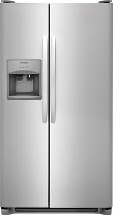 Frigidaire FFSS2315TS 33 Inch Side by Side Refrigerator with 22.1 cu. ft. Capacity, in Stainless Steel
