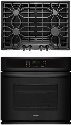 """2 Piece Kitchen Appliances Package with FFEW3026TB 30"""" Electric Single Wall Oven and FFGC3026SB 30"""" Natural Gas Cooktop in"""