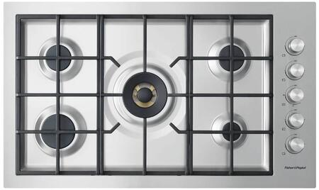 Fisher Paykel Contemporary CG365DLPRX2N Gas Cooktop Stainless Steel, Top view