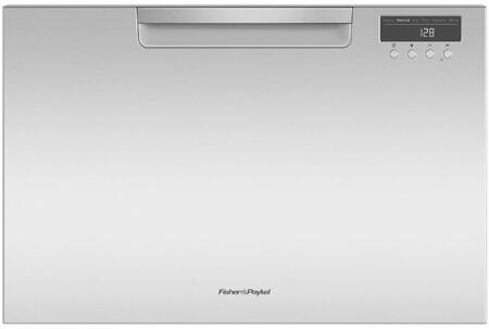 Fisher Paykel 5 Series DD24SAX9N Built-In Dishwasher Stainless Steel, Front View