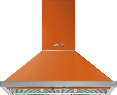Smeg Portofino KPF36UOR Wall Mount Range Hood Orange, Main Image