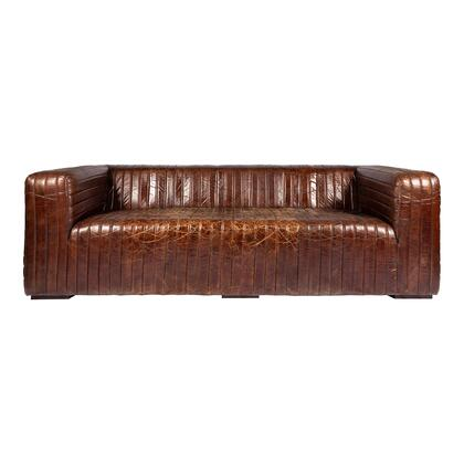 Moes Home Collection Castle PK100920 Stationary Sofa Brown, PK 1009 20