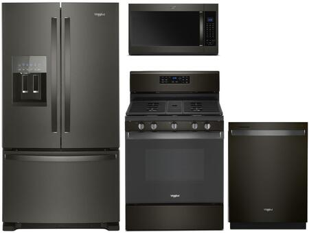 Whirlpool  1125669 Kitchen Appliance Package Black Stainless Steel, Main Image