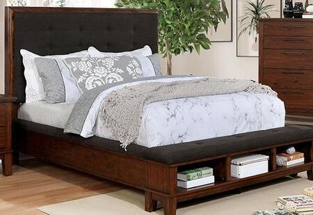 Furniture of America Knighton CM7528BED Bed Brown, 1