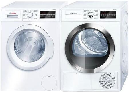 Bosch 300 Series 964074 Washer & Dryer Set White, Main Image