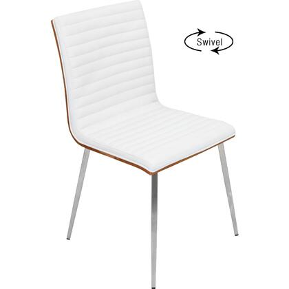 LumiSource Mason CHMSNSWVWLW2 Dining Room Chair White, Main